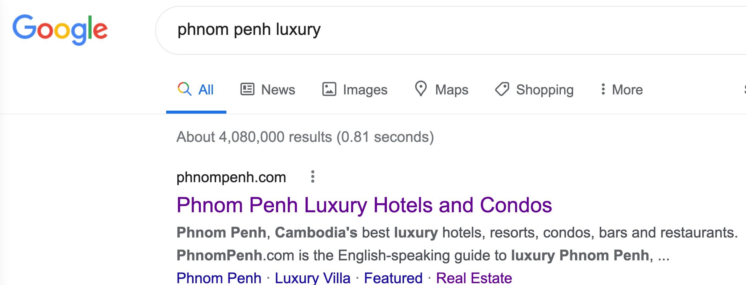 Phnom Penh luxury